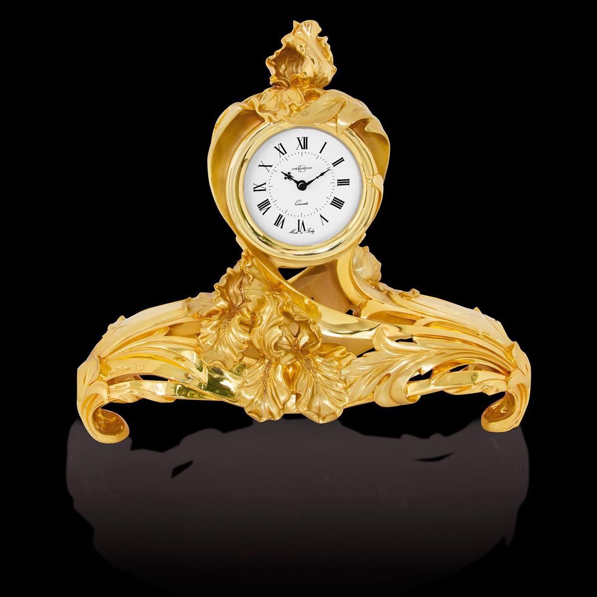 Orologio fiori in resina dorata orologi da tavolo - Dalvey orologio da tavolo ...